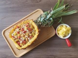 菠萝饭,和网上厨房周年木制托盘合个影😄