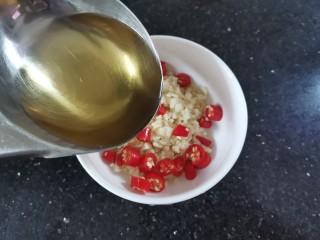 凉拌腐竹黄瓜,淋上热油