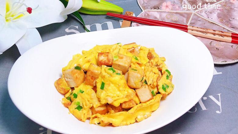 豆腐炒鸡蛋,蛋白质超高的豆腐炒鸡蛋就上桌了!