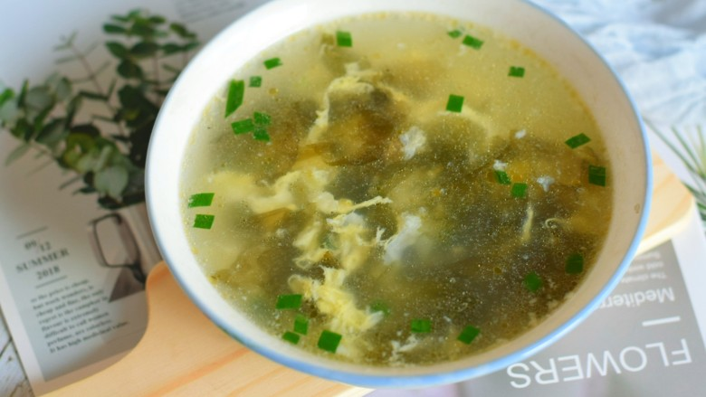 紫菜虾皮汤,成品