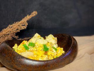 豆腐炒鸡蛋,完成