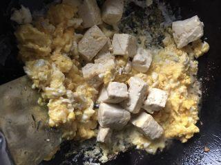 豆腐炒鸡蛋,炒