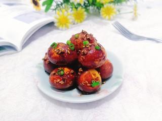 红烧鹌鹑蛋,上桌,即可开吃!