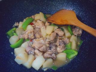 三黄鸡炖土豆,大火等待收汁