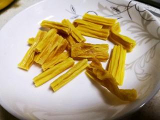 凉拌腐竹黄瓜,腐竹切段