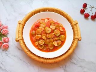 番茄炒丝瓜,宝贝说配米饭特别好吃。