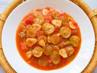 番茄炒丝瓜,近图看看。