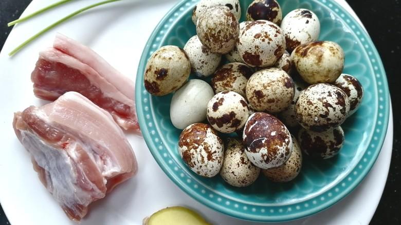 红烧鹌鹑蛋,准备好所需材料
