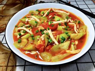 番茄炒丝瓜➕一川红绿醉春时,成品
