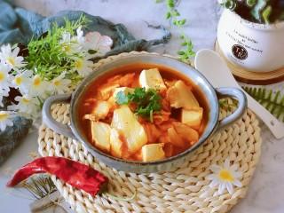辣白菜豆腐湯