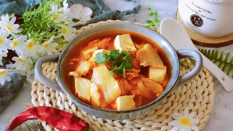 辣白菜豆腐汤