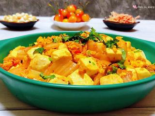 豆腐炒鸡蛋,普通的食材用心去做就会给自己带来好心情哦