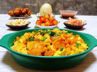 豆腐炒鸡蛋,这是一道快手菜非常适合上班族的朋友噢
