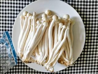 素炒白玉菇,白玉菇备用