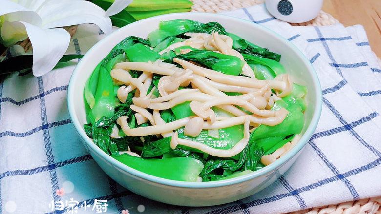 素炒白玉菇,一盘营养美味的新鲜素炒白玉菇就上桌了!