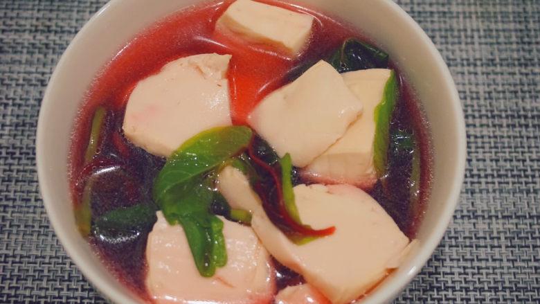 苋菜豆腐汤,一碗降火的羹汤就好啦~