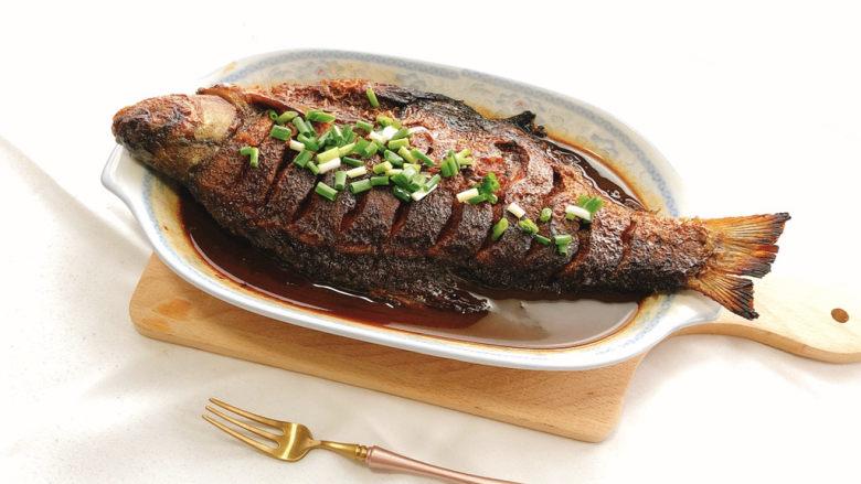 红烧鳊鱼,成品图