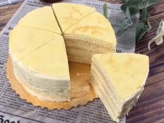榴莲千层蛋糕,千层做好啦,和小伙伴一起分享吧。温馨提示,冷藏一下更好吃哟😋