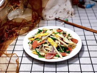 白玉菇炒鸡蛋➕春至花如锦,成品