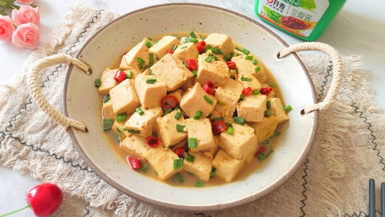 家常烧豆腐,准备开饭啦!