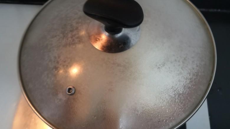 韭菜锅贴,盖上锅盖,大火烧煮
