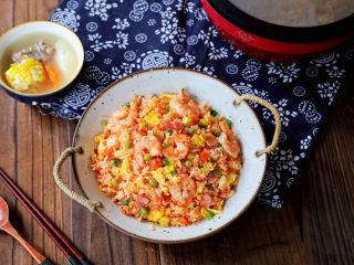 番茄蝦仁培根蛋炒飯
