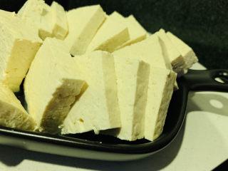 家常烧豆腐,切块