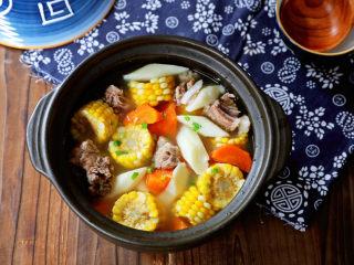 玉米胡萝卜山药排骨汤,图二