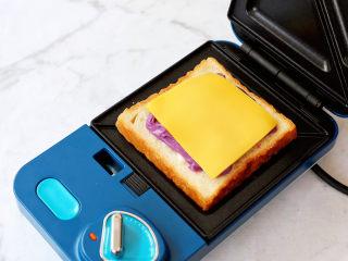 芋泥芝士三明治,即食芝士片