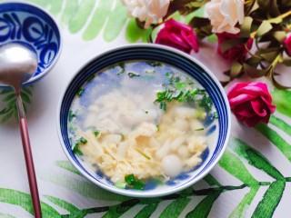 白玉菇鸡蛋汤