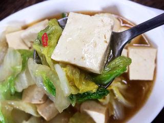 白菜炖豆腐,超好吃,原汁原味