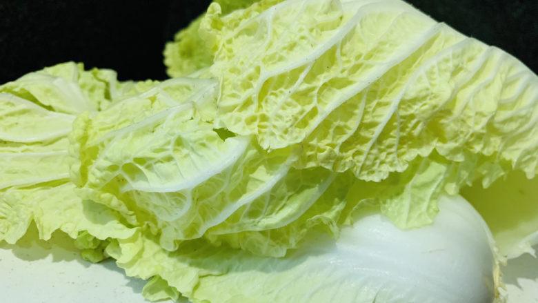 白菜炖豆腐,白菜拔下