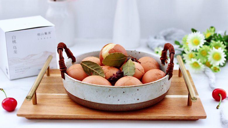 乌龙茶香卤鸡蛋,自己卤的鸡蛋,无添加更健康美味。