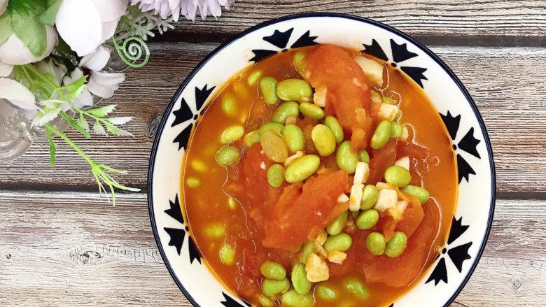 番茄炒青豆