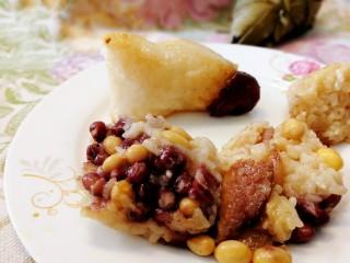蜜枣白粽+彩豆肉粽