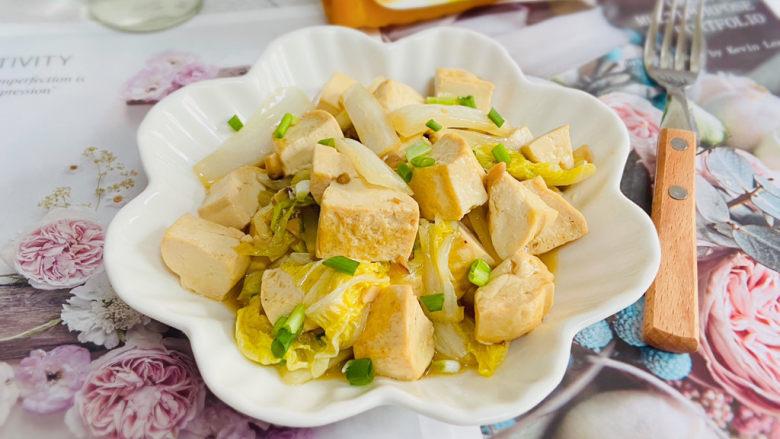 白菜炖豆腐,补中益气、清热润燥,一道营养丰富的白菜炖豆腐,你学会了吗?