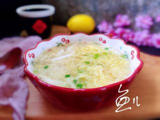 白玉菇鸡蛋汤,上桌了