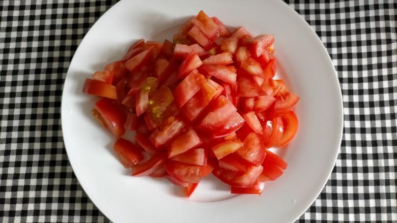 番茄巴沙鱼,西红柿切丁