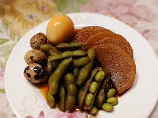 卤【白萝卜+毛豆+鹌鹑蛋+鸡蛋】