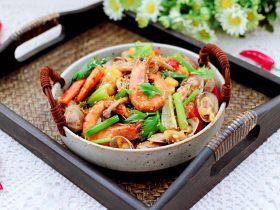 海鲜杂蔬麻辣香锅