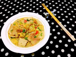 白菜炖豆腐,看着就好有食欲