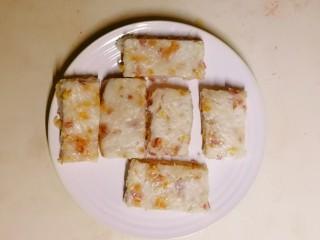 广式萝卜糕,晾凉切块状