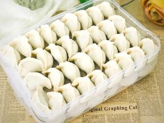 白菜虾仁韭菜猪肉饺子