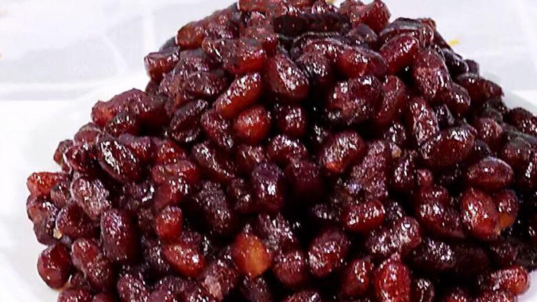 红豆粽子,糖纳红豆颗粒完整,甜味纯正