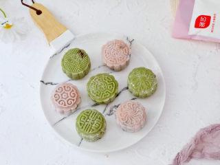 彩色豆沙冰皮月饼