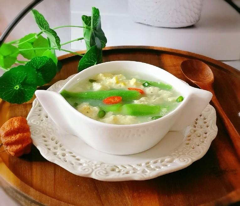 丝瓜蛋汤,盛出食用 非常好喝的早餐汤