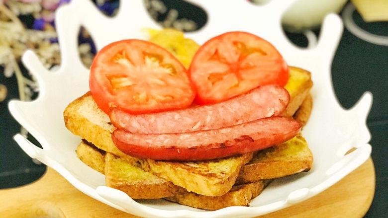 一个人的趣味早餐—笑脸吐司,一个童趣盎然的笑脸吐司就做好了