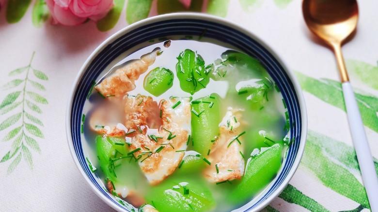 丝瓜蛋汤,清爽好喝有营养