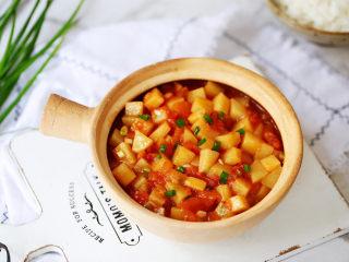 番茄土豆丁,成品图