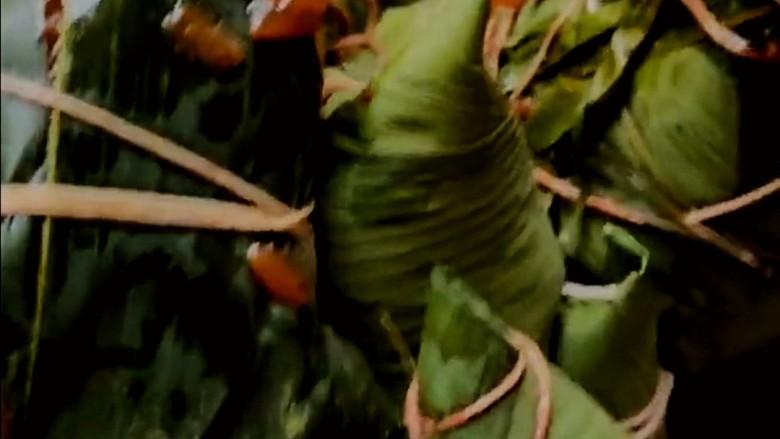 红豆粽子,松松,软软的红豆糯米粽子煮熟了